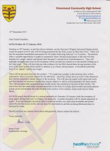 Headteacher Letter - Prelim Information for Parents/Carers