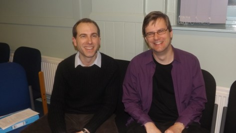 David Sterratt (Chair) and Edmund Farrow (Treasurer) at a Parent Council meeting